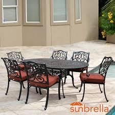 Aluminum Patio Dining Set Villa Flora 7 Piece Cast Aluminum Patio Dining Set W Oval Table