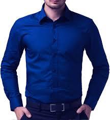 royal blue being fab men s solid formal blue shirt buy royal blue being fab