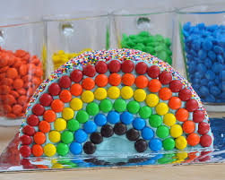 collection colorful cakes rainbow cakes