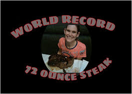 tiny woman demolishes 72 ounce steak and sets world record youtube