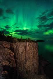 northern lights minnesota 2017 auroras at the cliffs at palisade head over lake superior taken by
