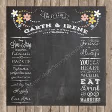 wedding photo backdrop chalkboard printable complete custom