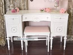 Vintage Style Vanity Table Shabby Cottage Decor Shabby Cottage Chic White Vintage Style