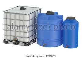 Plastic Bottles And Liquid Storage - water tanks large industrial plastic containers red color outdoors