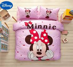 popular minnie mouse bedding buy cheap minnie mouse bedding lots minnie mouse comforter bedding set cotton bedclothes cartoon disney bed covers girl baby bedroom decor twin