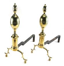 Antique Brass Fireplace Andirons by Brass Williamsburg Reproduction Fireplace Andirons Ebth
