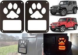 Jeep Jk Tail Light Covers Pair Dog Paw Tail Light Covers For 2007 2017 Jeep Wrangler New