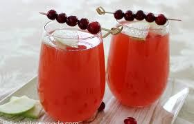 cranberry apple spritzer thanksgiving dinner hoosier