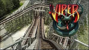 Viper Roller Coaster Six Flags Viper Hd Front Seat On Ride Pov U0026 Review Wooden Coaster Six Flags