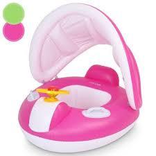 bouee siege bebe bouée siège bébé avec pare soleil 2 coloris au choix vert pas cher