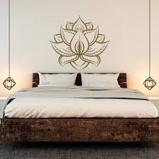 lotus wall decal sticker yoga room decor lotus flower wall details lotus wall decal