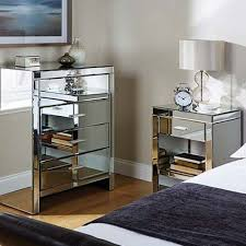 mirrored furniture cheap square shape brown wooden bedside table