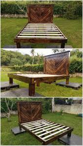 Patio Furniture Made Out Of Wood Pallets - best 25 wooden pallet beds ideas on pinterest pallet platform