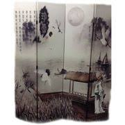 handpainted chinese room divider birds and flowers room screens