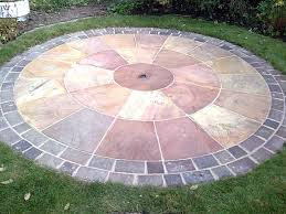 Simple Brick Patio With Circle Paver Kit Patio Designs And Ideas by Paving Circle Sundial Pinterest Patios Gardens And Garden Paths