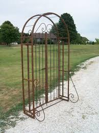 wrought iron trellis arch with gate best 25 wrought iron trellis