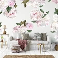 Peonies Peony Wall Decals Urban Walls - Wall design decals