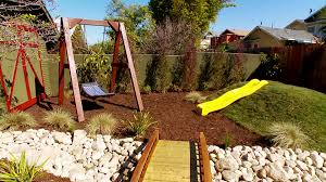 yard bridge backyard bridge divides yard video diy