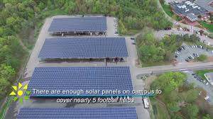 Solar Canopy by Solect Stonehill College Solar Arrays Youtube