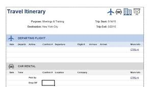 event itinerary template 10 travel itinerary templates free