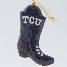 tcu boot cloisonne ornament