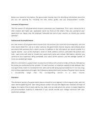 How To Type Resume For A Job by How To Write A Government Resume For Government Jobs