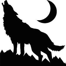 wolf howling at the moon sticker permanent outdoor vinyl decal