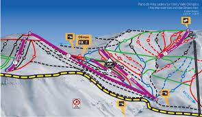 Ski Resorts Colorado Map by Trail Map El Colorado Farellones
