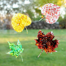 how to make melted crayon leaf suncatchers