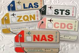 luggage tags favors destination weddings luggage tag favors