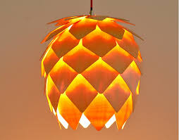 Decorative Light Fixtures by Modern Art Wooden Pinecone Pendant Lights Home Restaurant Hanging