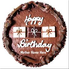 create your mother name on chocolate birthday cake picture