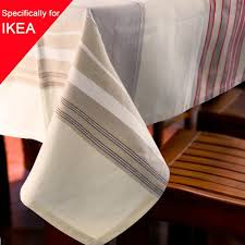 Party Table Covers Linen Party Table Cloth Striped Square Decor Table Cover Rectangle