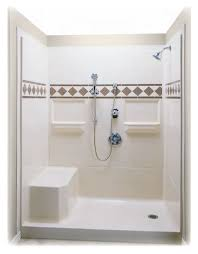 Bathroom Shower With Seat Walk In Shower Stalls With Seat Pinteres