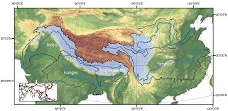 Brahmaputra River On Map Fig 1 Climate Change Will Affect The Asian Water Towers Science