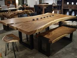 rustic metal and wood dining table kitchen metal and wood table on throughout in dining prepare 14