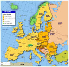 map or europe map of europe and seas major tourist attractions maps