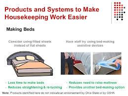 housekeeper managers improving housekeeping work using ergonomics