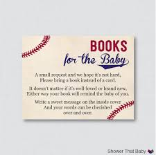 baseball baby shower printable bring a book instead of a card