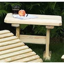 pine outdoor end table