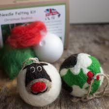 needle felting kit christmas baubles the makery the core is a