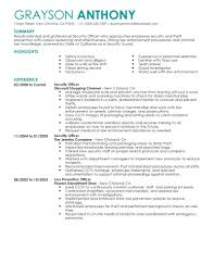 Best Police Officer Resume Example Livecareer by Best Security Officers Resume Example Livecareer