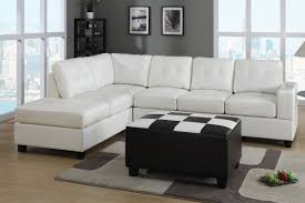 light grey leather sofa living room cado modern furniture vision sectional sleeper diego
