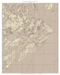 Map Of Hilton Head Sc Hilton Head Island Sepia 1948 Map Topographic Usgs Custom