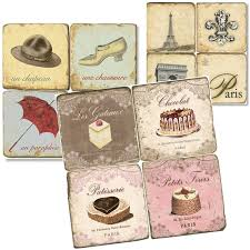 french theme marble tile coasters unique gifts studio vertu