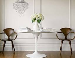 white round tulip dining table round designs