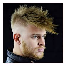 Mens Hairstyles Spiked by Mens Hairstyle Short On Sides Long On Top Together With Spiky
