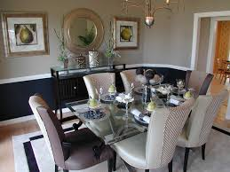 Black Lacquer Dining Room Furniture Delightful Black Lacquer Dining Chairs With Wall Treatment Art