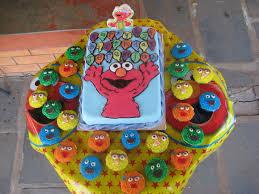 elmo 1st birthday cake and sesame street cupcakes cakecentral com