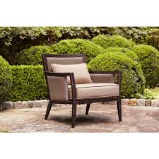 Patio Chair Cushions Home Depot by Brown Jordan Greystone Patio Loveseat With Sparrow Cushions